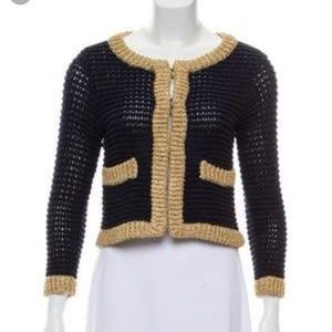 3.1 Phillip Lim navy cropped cardigan